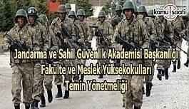 Jandarma ve Sahil Güvenlik Akademisi Başkanlığı Fakülte ve Meslek Yüksekokulları Temin Yönetmeliği