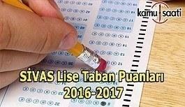 Sivas Lise Taban Puanları 2016-2017