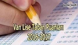 Van Lise Taban Puanları 2016-2017