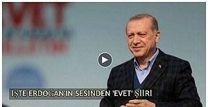 Yenikapı'da Erdoğan'ın sesinden sürpriz klip