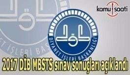 2017 DİB MBSTS sınav sonuçları açıklandı