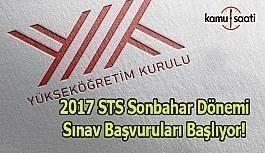 2017 STS Sonbahar Dönemi sınav başvuruları başlıyor