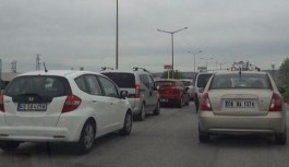 Ankara Elmadağ'daki yol çalışması trafiği felç etti