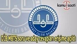 DİB MBTS soru ve aday cevapları erişime açıldı