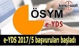 e-YDS 2017/5 başvuruları başladı