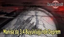 Manisa'da 3.4 büyüklüğünde deprem