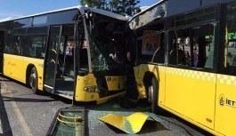 İstanbul'da metrobüsler çapıştı: Yaralılar var