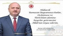"""Ordu Milletvekili Metin Gündoğdu """"Bayramlar Ortak Paydamızdır"""""""