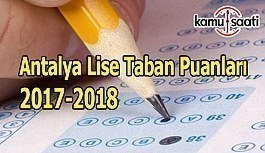 TEOG Antalya Lise Taban Puanları 2017-2018