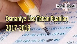 TEOG Osmaniye Lise Taban Puanları 2017-2018