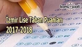 TEOG İzmir Lise Taban Puanları 2017-2018