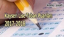 TEOG Kayseri Lise Taban Puanları 2017-2018