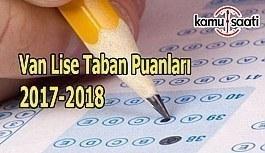 TEOG Van Lise Taban Puanları 2017-2018