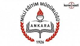 Ankara İl MEM, Kapanan Kurumlara Ait Atama Sonuçlarını açıkladı