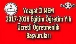 Yozgat İl MEM 2017 Ücretli Öğretmenlik Başvuru Duyurusu