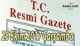 TC Resmi Gazete - 25 Ekim 2017 Çarşamba