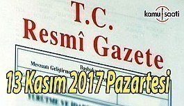 TC Resmi Gazete - 13 Kasım 2017 Pazartesi
