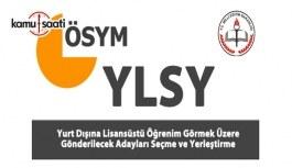 2017 YLSY ile yerleşeceklerin belge işlemlerine ilişkin duyuru