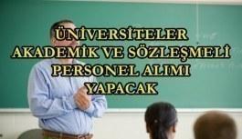 4 üniversite akademik ve sözleşmeli personel alımı yapacak