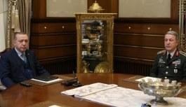 Cumhurbaşkanı Erdoğan, Hulusi Akar ile görüştü