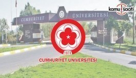 Cumhuriyet Üniversitesi Yaz Öğretimi Yönetmeliğinde Değişiklik Yapıldı - 2 Ocak 2018 Salı