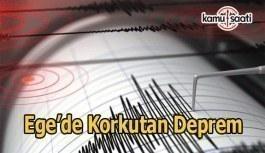 Ege'de 4,3 büyüklüğünde deprem