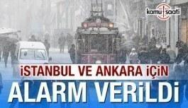 Meteoroloji'den Ankara ve İstanbul için kar uyarısı!