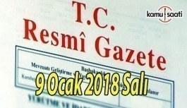 TC Resmi Gazete - 9 Ocak 2018 Salı