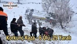 Yolcu otobüsü dereye uçtu: 6 ölü, 29 yaralı