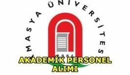 Amasya Üniversitesi akademik personel alımı yapacak