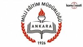 Ankara İl MEM Dönem Başı İl Zümre Başkanları Toplantı Tarihleri
