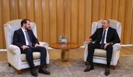 Bakan Berat Albayrak ve Cumhurbaşkanı  Aliyev görüşmesi