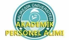 Balıkesir Üniversitesi akademik personel alım ilanı