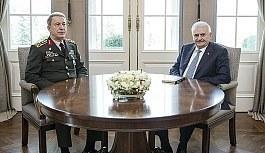 Başbakan Yıldırım ile Orgeneral Hulusi Akar görüşmesi