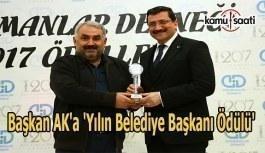 Başkan Ak'a 'Yılın Belediye...