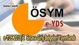 e-YDS 2018/2 sınava giriş belgeleri yayımlandı