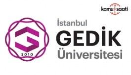 İstanbul Gedik Üniversitesi Ön Lisans, Lisans Eğitim-Öğretim ve Sınav Yönetmeliğinde Değişiklik Yapıldı - 19 Şubat 2018