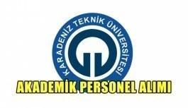 Karadeniz Teknik Üniversitesi akademik personel alımı yapacak