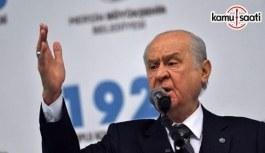 MHP Genel Başkanı Bahçeli: Zeytin Dalı Harekatı'ndaki asıl gaye barışın sağlanması