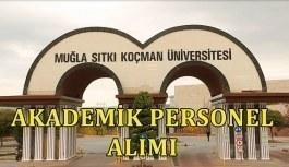 Muğla Sıtkı Koçman Üniversitesi akademik personel alacak