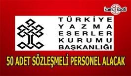 Türkiye Yazma Eserler Kurumu sözleşmeli personel alım ilanı