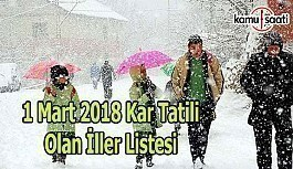 Yarın okullar tatil mi? 1 Mart 2018 Perşembe kar tatili listesi