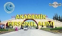 Adıyaman Üniversitesi akademik personel alacak