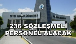 Afyon Kocatepe Üniversitesi 236 Sözleşmeli Personel Alacak