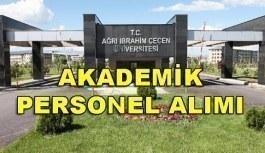 Ağrı İbrahim Çeçen Üniversitesi akademik personel alımı yapacak