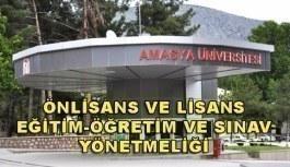 Amasya Üniversitesi Önlisans ve Lisans Eğitim-Öğretim Ve Sınav Yönetmeliği
