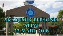 Gazi Üniversitesi 33 Akademik Personel Alacak - 22 Mart 2018