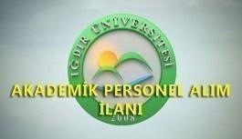 Iğdır Üniversitesi akademik personel alım ilanı