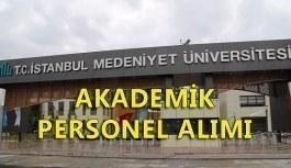 İstanbul Medeniyet Üniversitesi akademik personel alım ilanı