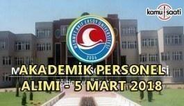 Mehmet Akif Ersoy Üniversitesi akademik personel alımı